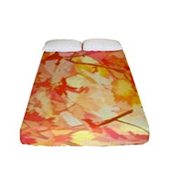 Monotype Art Pattern Leaves Colored Autumn Fitted Sheet (full/ Double Size) by Amaryn4rt