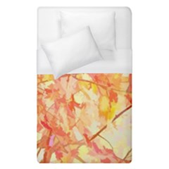 Monotype Art Pattern Leaves Colored Autumn Duvet Cover (single Size) by Amaryn4rt