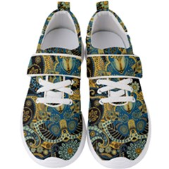 Retro Ethnic Background Pattern Vector Men s Velcro Strap Shoes by Amaryn4rt