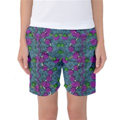The Most Beautiful Flower Forest On Earth Women s Basketball Shorts by pepitasart