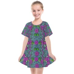 The Most Beautiful Flower Forest On Earth Kids  Smock Dress