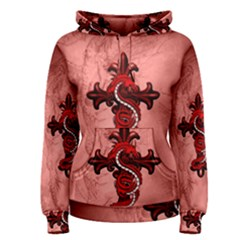Awesome Chinese Dragon Women s Pullover Hoodie by FantasyWorld7