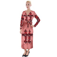 Awesome Chinese Dragon Velvet Maxi Wrap Dress by FantasyWorld7