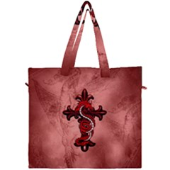 Awesome Chinese Dragon Canvas Travel Bag by FantasyWorld7