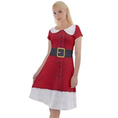 Red Christmas Elf Funny Realistic Costume Classic Short Sleeve Dress by snek