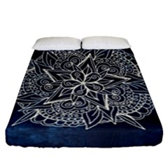 Floral Mandala Fitted Sheet (queen Size) by goljakoff