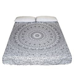 Mandala Ornament Fitted Sheet (queen Size) by goljakoff