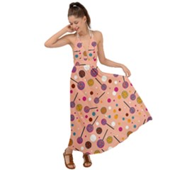 Sweet Candy Backless Maxi Beach Dress by VeataAtticus