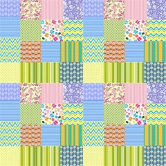 Quilting Style In Color Fabric by TimelessDesigns