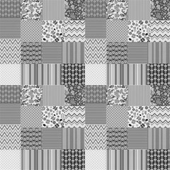 Quilting Style In Black And White Fabric by TimelessDesigns