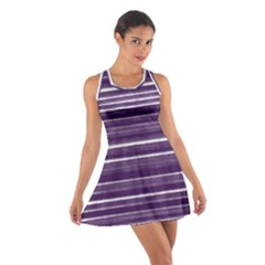 Bandes Peinture Violet  Cotton Racerback Dress by kcreatif