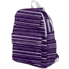 Bandes Peinture Violet  Top Flap Backpack by kcreatif