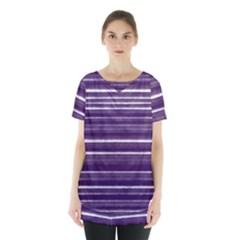 Bandes Peinture Violet  Skirt Hem Sports Top by kcreatif