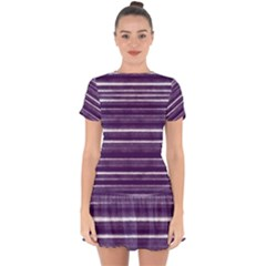 Bandes Peinture Violet  Drop Hem Mini Chiffon Dress by kcreatif