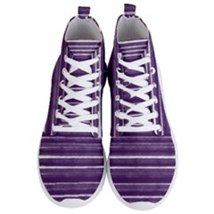 Bandes Peinture Violet  Men s Lightweight High Top Sneakers by kcreatif