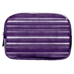 Bandes Peinture Violet  Make Up Pouch (small) by kcreatif