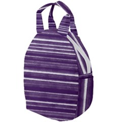 Bandes Peinture Violet  Travel Backpacks by kcreatif