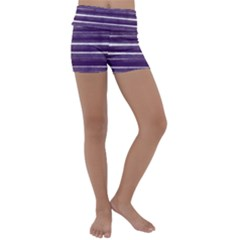 Bandes Peinture Violet  Kids  Lightweight Velour Yoga Shorts by kcreatif