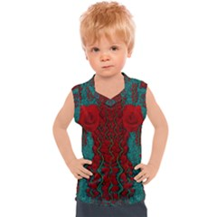 Lianas Of Roses In The Rain Forrest Kids  Mesh Tank Top