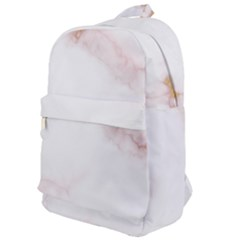 Pink And White Marble Texture With Gold Intrusions Pale Rose Background Classic Backpack by genx