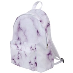 White Marble Violet Purple Veins Accents Texture Printed Floor Background Luxury The Plain Backpack by genx