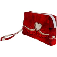 Love, Wonderful Elegant Heart Wristlet Pouch Bag (small) by FantasyWorld7