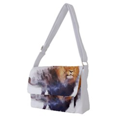 Lion Full Print Messenger Bag (m)