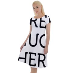 Free Hugs Here Classic Short Sleeve Dress