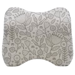 Floral Pattern Velour Head Support Cushion by Valentinaart