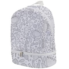 Floral Pattern Zip Bottom Backpack
