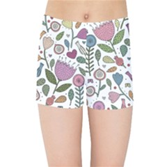 Floral Pattern Kids  Sports Shorts by Valentinaart