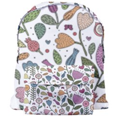 Floral Pattern Giant Full Print Backpack by Valentinaart