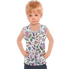 Floral Pattern Kids  Mesh Tank Top