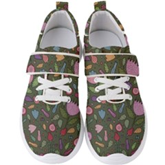 Floral Pattern Men s Velcro Strap Shoes by Valentinaart