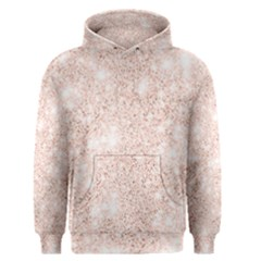 Rose Gold Pink Glitters Metallic Finish Party Texture Imitation Pattern Men s Pullover Hoodie by genx