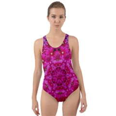 Flower Suprise To Love And Enjoy Cut-out Back One Piece Swimsuit