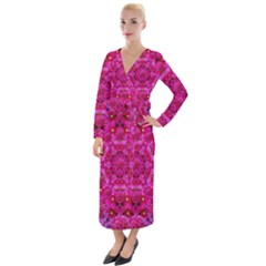 Flower Suprise To Love And Enjoy Velvet Maxi Wrap Dress by pepitasart
