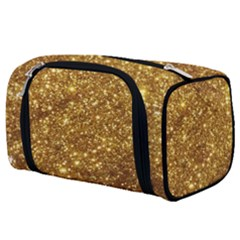 Gold Glitters Metallic Finish Party Texture Background Faux Shine Pattern Toiletries Pouch by genx