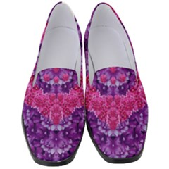 Flowers And Purple Suprise To Love And Enjoy Women s Classic Loafer Heels by pepitasart