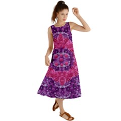 Flowers And Purple Suprise To Love And Enjoy Summer Maxi Dress