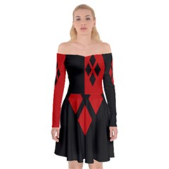Harley Queen Shoulder Skater Dress by 80generationsapparel