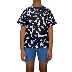 Camouflage Bleu Kids  Short Sleeve Swimwear by kcreatif