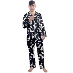 Camouflage Bleu Men s Satin Pajamas Long Pants Set by kcreatif