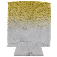 Gold Glitter On White Marble Can Holder