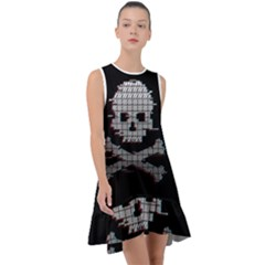 Glitch Game Over Frill Swing Dress
