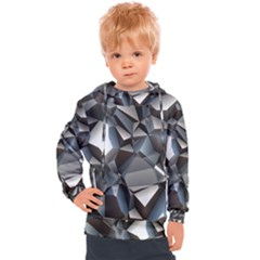 Triangles Polygon Color Silver Uni Kids  Hooded Pullover