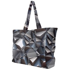 Triangles Polygon Color Silver Uni Simple Shoulder Bag