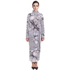 Entwine Fractals Rings Thorns Blow Turtleneck Maxi Dress