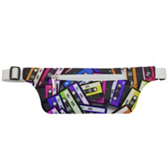 Cassette Many Record Graphics Active Waist Bag