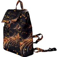 Abstract Background Particles Wave Buckle Everyday Backpack